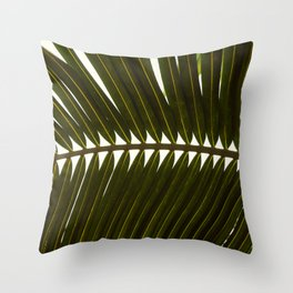 Cancun Palm Leaf Throw Pillow