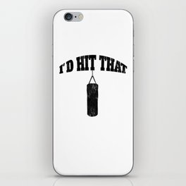 Funny Distressed Hit That Boxing Kickboxing Fitness Training iPhone Skin