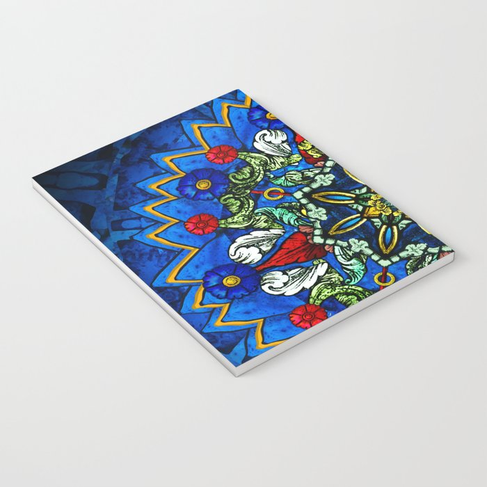 Lighted Rose Window Collage Notebook