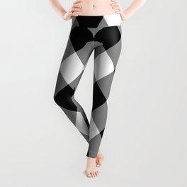 Gingham Plaid Black & White Leggings