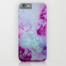 Watercolor wash - purple and magenta iPhone Case