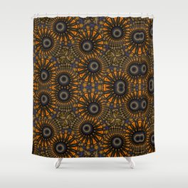 Staring eyes of weird mandalas Shower Curtain