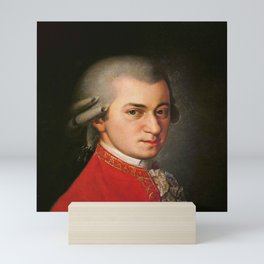 Barbara Krafft - portrait of Mozart Mini Art Print
