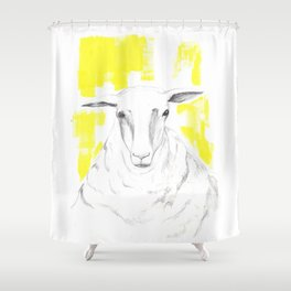 Dave the sheep Shower Curtain