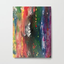 Fluid painting, abstract Metal Print