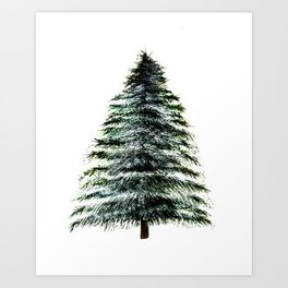 Evergreen Tree Tapestry Art Print