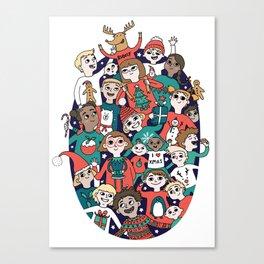 Christmas Kiddiwinks Canvas Print