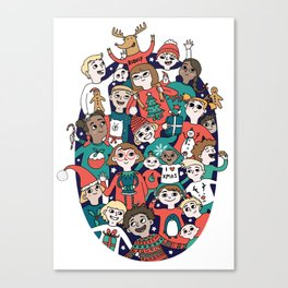 Christmas Kiddiwinks Canvas Print