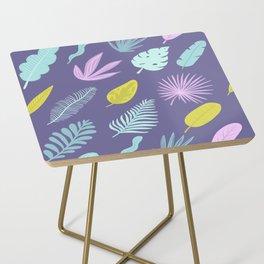 Leaves on blue Side Table