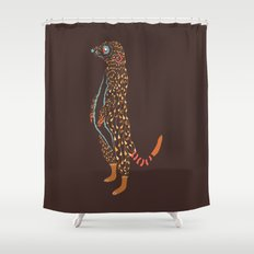 Abstract Meerkat Shower Curtain