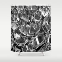 cookie Shower Curtains featuring Cookie Cutters  by Ethna Gillespie
