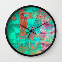 Abstract Ladder Wall Clock
