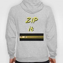 Zip it Black Yellow jGibney The MUSEUM Gifts Hoody