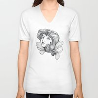 gray V-neck T-shirts featuring Gray by Virginia Skinner