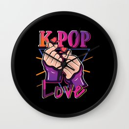 K-Pop Love Wall Clock