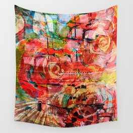 Thinking up Roses Wall Tapestry