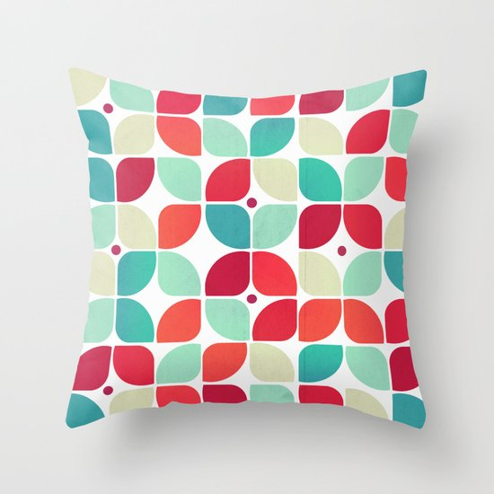 Vintage Garden Pattern Throw Pillow