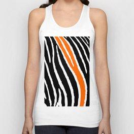 Orange Zebra Unisex Tank Top