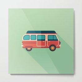 Retro Minivan Metal Print