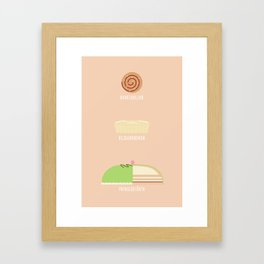 Swedish Desserts Framed Art Print