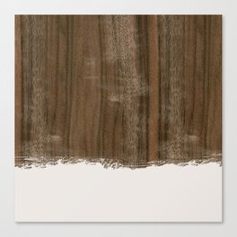 Dipped Wood - Australian Walnut Canvas Print