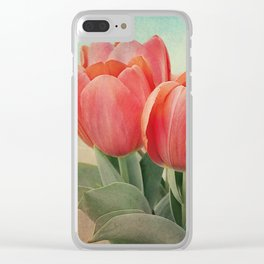 Vintage tulips 4 Clear iPhone Case