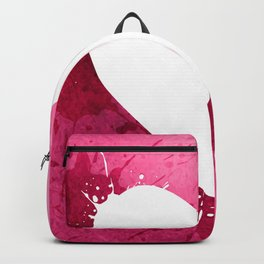 Pink watercolor splash heart texture Backpack