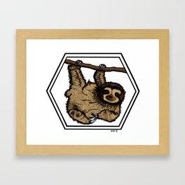 Sloth (transparent background) Framed Art Print