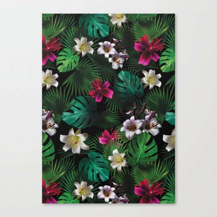 Tropical Night Garden Canvas Print