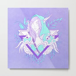 Elf Lady Metal Print