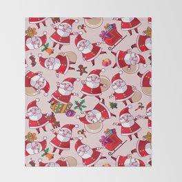 Santa Gift Pattern Throw Blanket