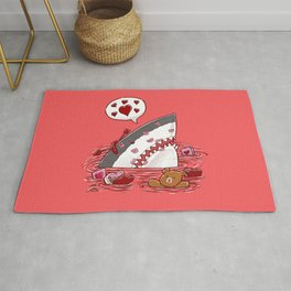 The Valentine's Day Shark Rug