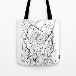 One hand in two pockets. Tote Bag