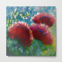 Contemporary Floral Abstract Metal Print