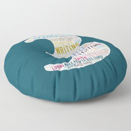 Life Path 3 (color background) Floor Pillow