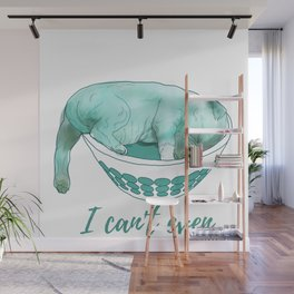 Dog in bowl Wall Mural