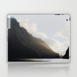 golden hour at milford sound Laptop & iPad Skin