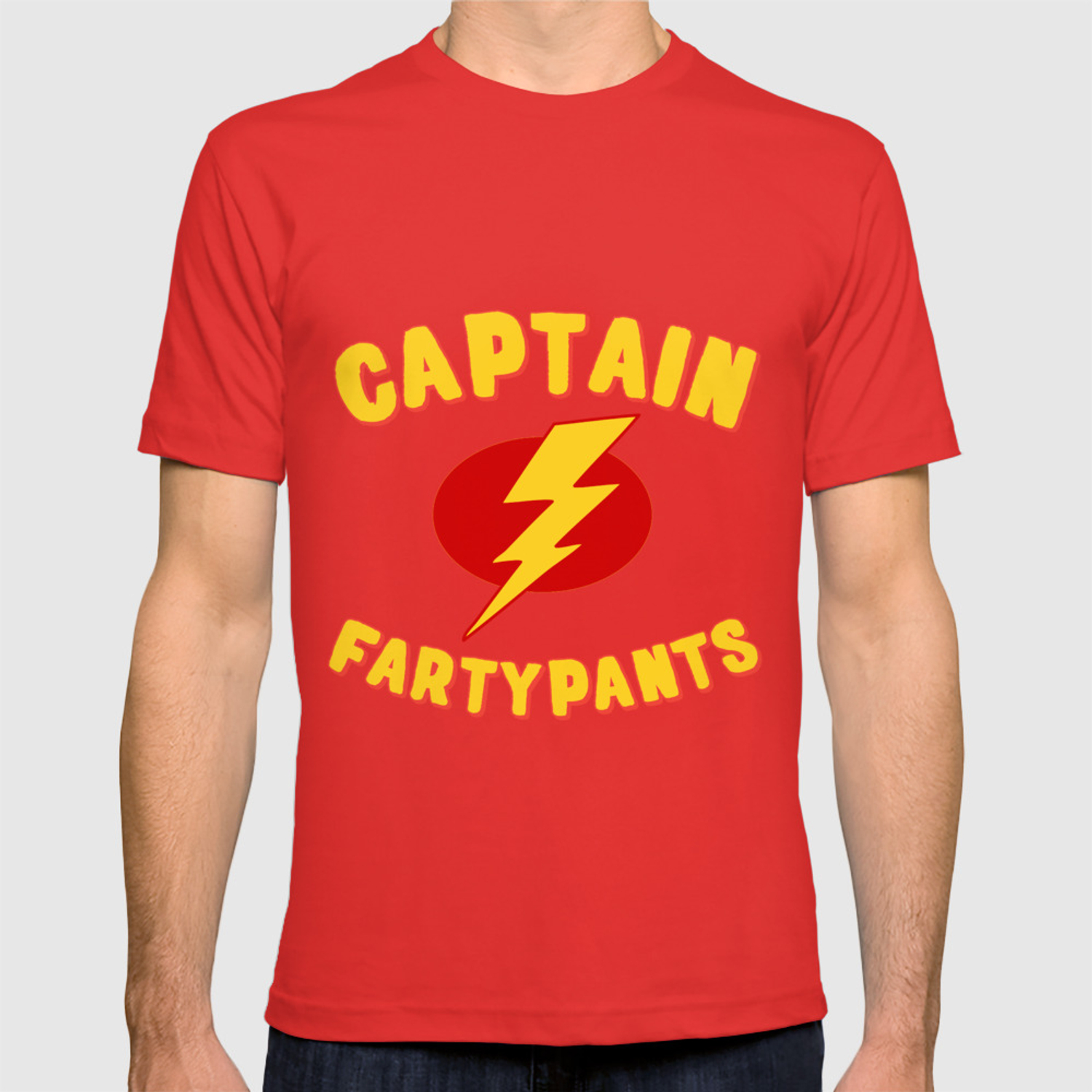 d6ca1f5aa Captain Fartypants Funny Fart T-shirt by djhemp | Society6