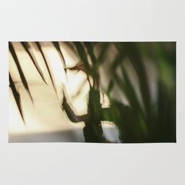 Dancing people, dance, shadows, hands and plants, blurred photography, dancer, forest, yoga Rug