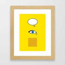 Iconic Painters: Roy Lichtenstein Framed Art Print