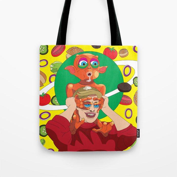 Mysterious Alien Creature. Tote Bag