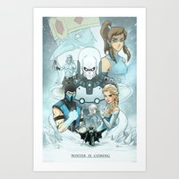 warcraft Art Prints featuring Winter Is Coming by Andrew Sebastian Kwan
