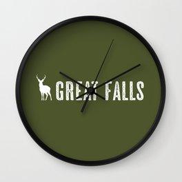 Deer: Great Falls, Montana Wall Clock