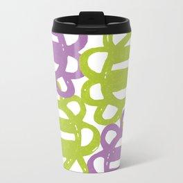 Fun Flowers Large purple green Travel Mug