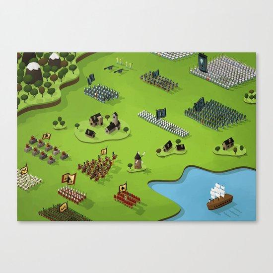 La plus grande toute petite bataille du monde Canvas Print