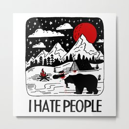 I Eat People Metal Print