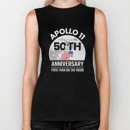 1969 2019 50 Years Since America Landed on the Moon Apollo 11 Biker Tank