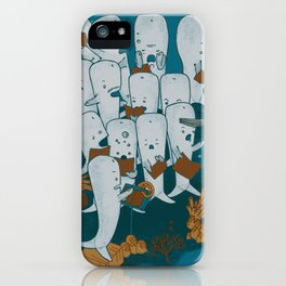 Whale songs iPhone Case