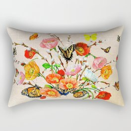 Butterfly Bouquet  Rectangular Pillow