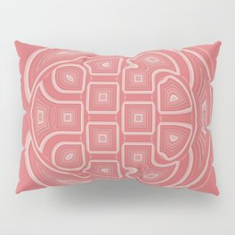 White Circle and Geometric Shapes on Apricot Pillow Sham